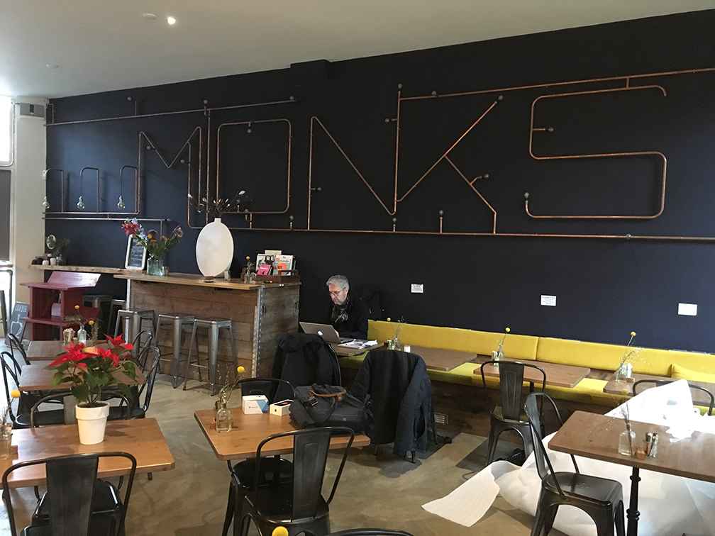 Expositie Monks Coffee Roasters